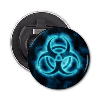 Abrebotellas Símbolo azul del Biohazard