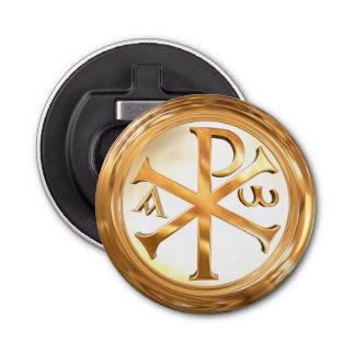 Abrebotellas Símbolo de Ji-Rho del oro