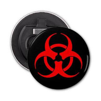 Abrebotellas Símbolo rojo del Biohazard