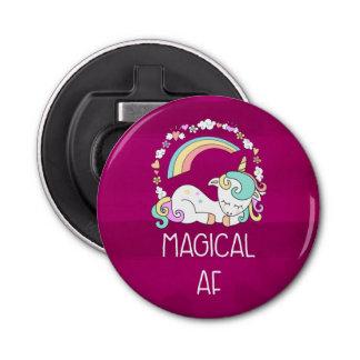 Abrebotellas Unicornio divertido que dice el AF mágico