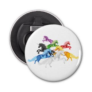 Abrebotellas Unicornios salvajes coloridos del ejemplo