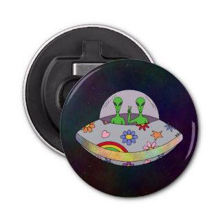 Abrebotellas Vienen en el UFO de la paz