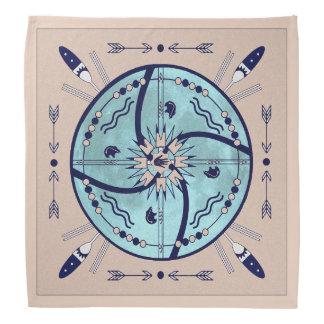 Abrigar pañuelo nativo de los símbolos de la