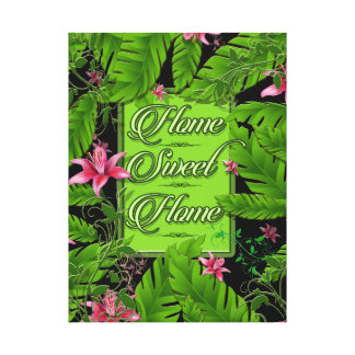 Banana Leaf Tropical Home Decor 18X24 Canvas Wrap