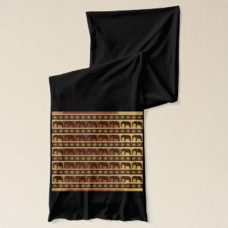 Abrigo de la bufanda del diseñador del elefante