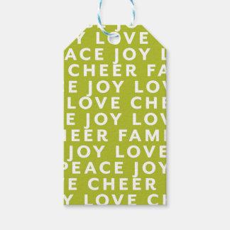 Abrigo de la etiqueta del regalo del navidad de la