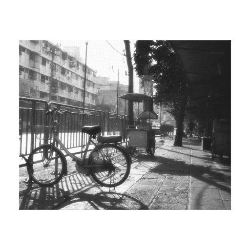 Abrigo de la lona de la foto de la bicicleta y de  impresiones en lona estiradas