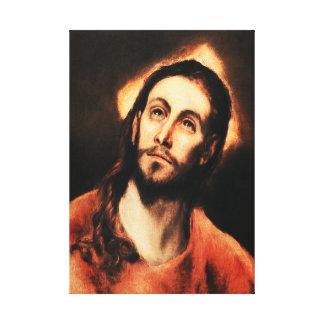 Abrigo de la lona del Jesucristo de El Greco Impresión De Lienzo