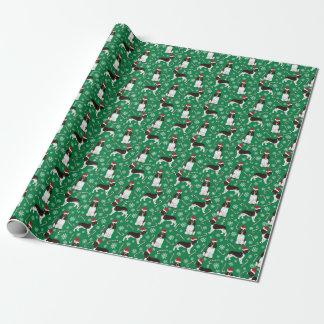 Abrigo del navidad del perro de aguas de saltador papel de regalo