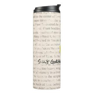Abrigo del vaso del texto del libro de SGR-P