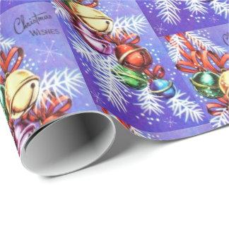 Abrigo retro de la fiesta de Navidad de los bulbos Papel De Regalo
