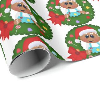 Abrigo tejado fiesta festivo de la guirnalda del papel de regalo