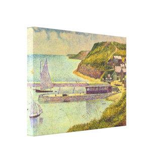 Abrigúese en el Puerto-en-Bessin en la alta marea Lona Estirada Galerias