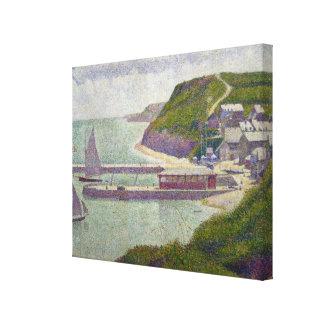 Abrigúese en el Puerto-en-Bessin en la alta marea, Impresión En Lona Estirada