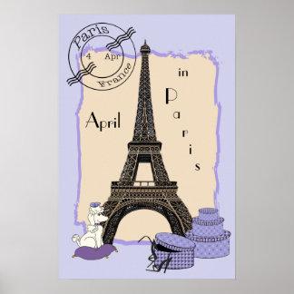 Abril en París Poster
