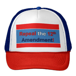 ¡Abrogue la 12ma enmienda! Gorros Bordados