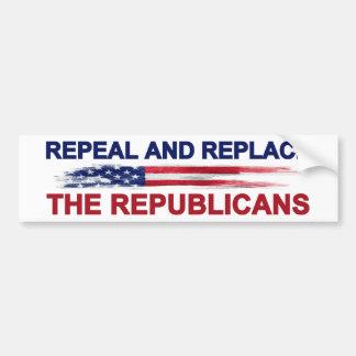 Abrogue y substituya a los republicanos pegatina para coche