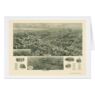 Absecon mapa panorámico de NJ - 1924 Tarjetón