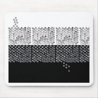 Abstracción blanco y negro alfombrilla de ratón