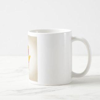 Abstracción de la mano taza de café