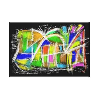 Abstract Impresión En Lienzo