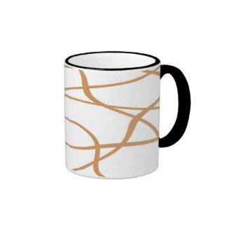 Abstract lines - Mug - Coloris: Crema Taza A Dos Colores