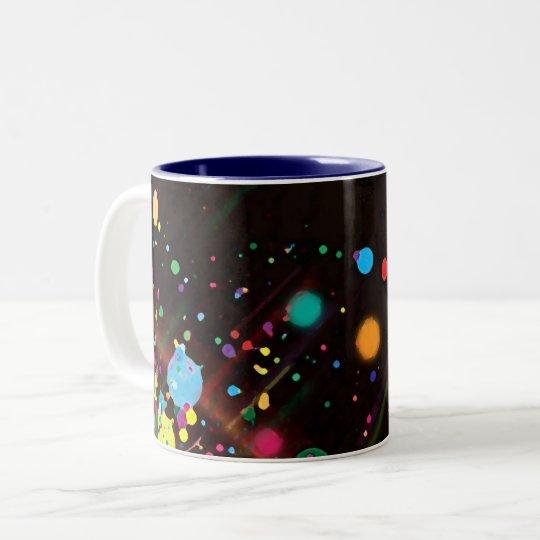 Abstract _lunares mug taza de café de dos colores