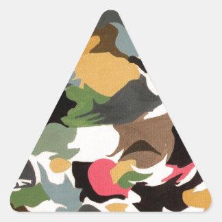abstracto-arte imagenative abstracto pegatina triangular