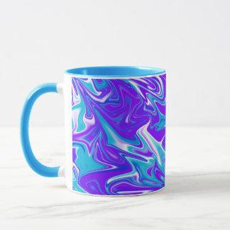 Abstracto, _Blue_Silky_Sky, taza de café combinada