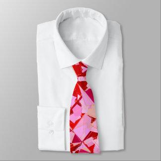 Abstracto de los mediados de siglo, rojo oscuro corbatas personalizadas