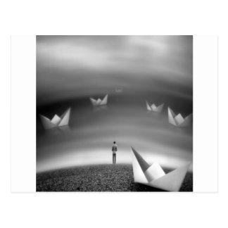 Abstracto refresque los sueños doblados postal