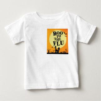Abucheo a la gripe camiseta de bebé