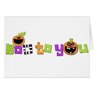 Abucheo a usted Halloween decorativo Felicitación