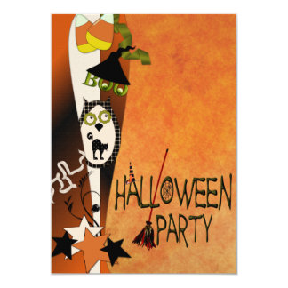 Abucheo a usted invitación de Halloween