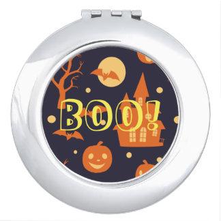 ¡Abucheo de Halloween! La casa golpea el modelo de Espejos De Maquillaje