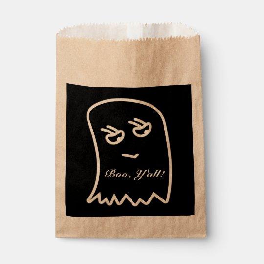 "Abucheo de Halloween, ""usted"" bolsos del favor Bolsa De Papel"