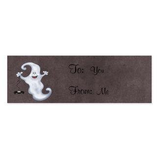 Abucheo del fantasma de Halloween Tarjetas De Visita Mini