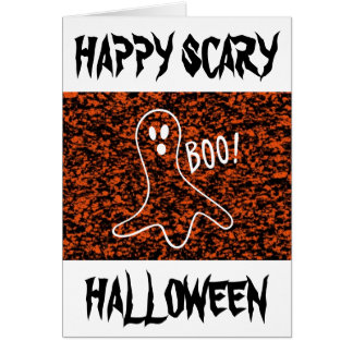 ¡Abucheo del fantasma! - Halloween Tarjeta De Felicitación