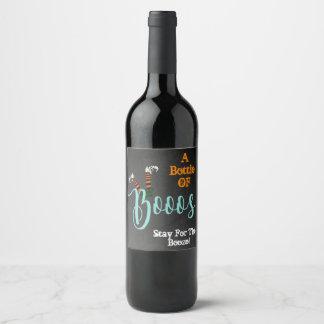 Abucheo en etiquetas de la botella de vino del