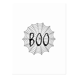Abucheo escrito en tela de araña postal