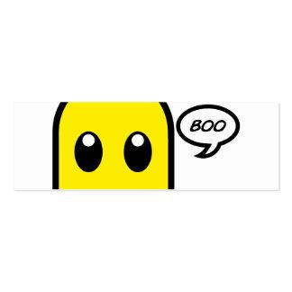 abucheo fantasmagórico del amarillo lindo del tarjetas de visita mini