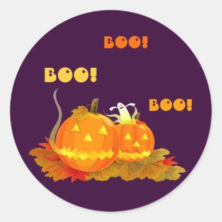¡Abucheo! Pegatinas de Halloween Etiqueta Redonda