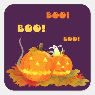 ¡Abucheo! Pegatinas de Halloween Pegatinas Cuadradases Personalizadas
