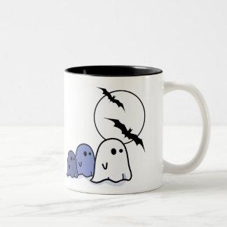 ¡Abucheo Pequeños fantasmas divertidos Taza de H