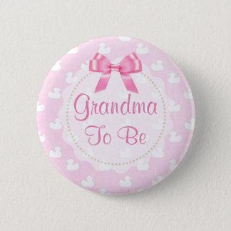 Abuela a ser botón de goma rosado de los anadones