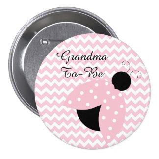 """""""Abuela a ser"""" botón rosado de la fiesta de"""