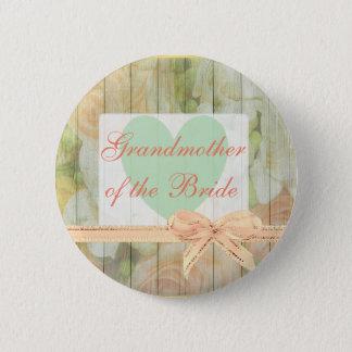 """Abuela botón rústico floral de la novia"""