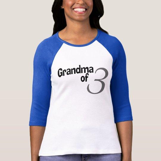 Abuela de 3 camiseta