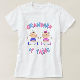 Abuela de bebés gemelos camisetas