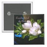 Abuela de la magnolia del vintage/botón de la novi pins